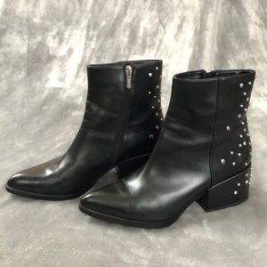 Circus by Sam Edelman Black Studded Pointy Booties